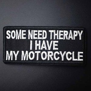 1 PC Some Need Therapy Embroidered Iron on Patch